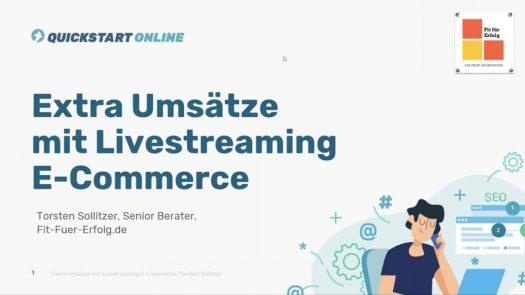 Extra Umsätze mit Livestreaming E-Commerce